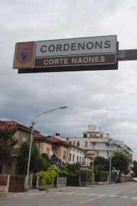 Cordenons Town Sign