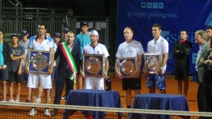 Doubles final ceremony