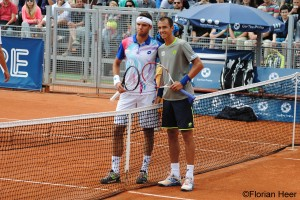 Jiri Vesely and Lukas Rosol before the final