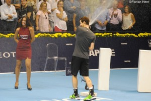 Murray celbrating his 3rd title of the season
