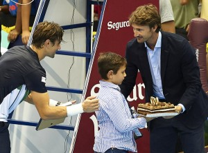 David Ferrer gained his 600th career win