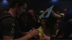 Andy Murray after today's match in Vienna