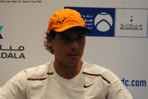 Rafael Nadal spoke to the media today