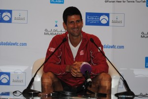 Novak Djokovic seemed to be pretty relaxed during the press conference today