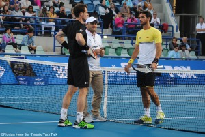 Coin toss to the first match in Abu Dhabi