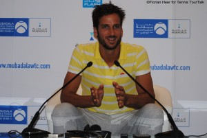 Feliciano López during press conference