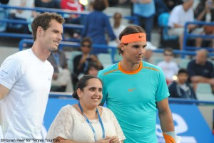 Andy Murray and Rafael Nadal before the match