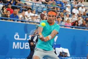 Rafael Nadal during the last edition of the MWTC
