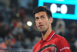 Novak Djokovic was in control of the match