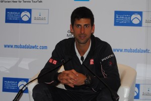 Novak Djokovic after his comfortabel win in Abu Dhabi