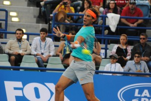 Rafael Nadal's forehand seemed to work better than yesterday