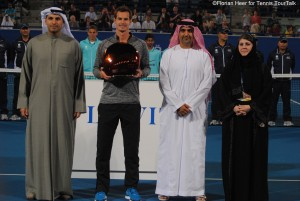 Andy Murray gained his first title in 2015 in Abu Dhabi