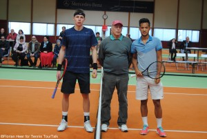 Ilva Ivashka (left) met Mick Lescure for the fist time on the ITF Circuit