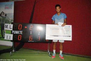 Mick Lescure gained 18 ATP ranking points and US-$ 1.440 in prize money