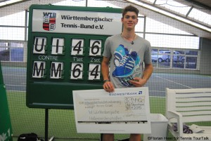 Maximilian Marterer took his first title on the ITF Pro Circuit