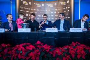 Main draw ceremony with Goran Ivanisevic, Marin Cilic and ATP Supervisor Carlos Sanches (photo: PBZ Zagreb Indoors)