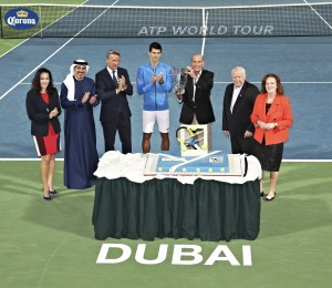 Inside the stadium, the ATP Award was celbrated