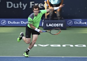 Andy Murray struggled in his first round encounter in Dubai