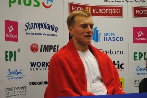 Andiej Kapas is the last Polish player in Wroclaw playing the doubles final on Sunday