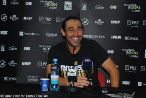 Marcos Baghdatis met the media after the match
