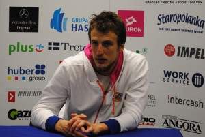 Mirza Basic spoke to the media after the match
