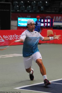 Top seed Ricardas Berankis lost in the semi-final in Wroclaw