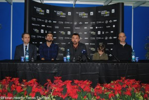 Final News conference in Zagreb with Branimir Horvat, Marin Cilic, Goran Ivanisevic and Ivan Ljubicic (from left)