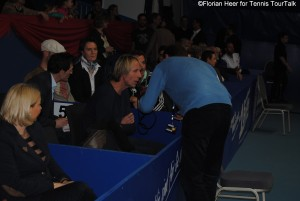 Carlo Thränhardt is an often seen guest at tennis tournaments - here at the ATP Challenger in Heilbronn 2014