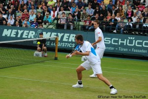 Michael Kohlmann achieved his best results in the doubles (here with Florian Mayer at the ATP 250 in Halle 2012)