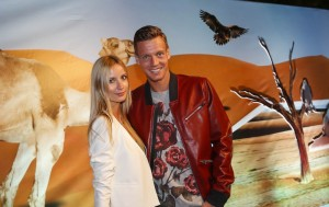 Tomas Berdych attended last night's player together with girl-friend Ester Satorova (photo: DDFtennis)
