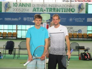 Philip Bester (right) took on Dzmitry Zhyrmont for the first time