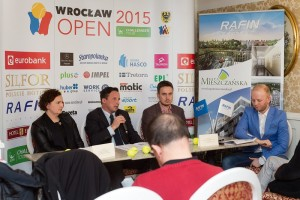 Press Conference with tournament director Pawel Jaroch (photo: Wroclaw Open)