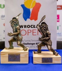 Two very special trophies for the winner and the runner up at Wroclaw Open