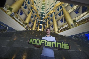 Novak Djokovic visited the Burj Al Arab earlier the week (photo: DDFtennis)