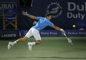 Novak Djokovic played his first match since the final of the Australian Open (photo: DDFtennis)