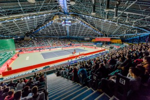 A lot of spectators came to Orbita Hall on Tuesday supporting their local players