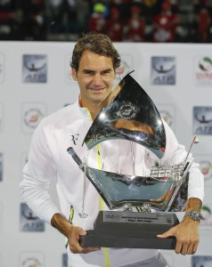 Roger Federer lifted his seventh trophy in Dubai (photo: DDFTennis)
