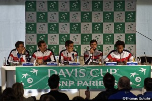 The French Team was in a good mood in the post match press conference