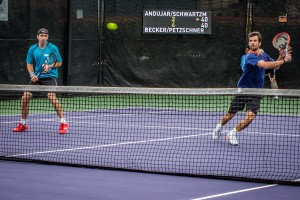 Benjamin Becker and Philipp Petzschner reached the doubles final (photo: Tessa Kolodny)