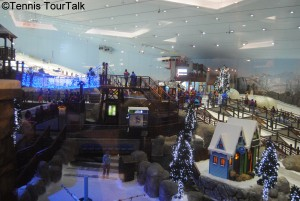 Skiing inside Mall of the Emirates