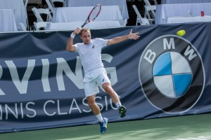 Steve Darcis advanced to the quarterfinals (photo: Tessa Kolodny)