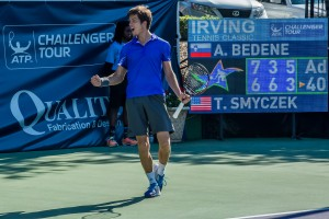 After two hours and 14 minutes Bedene closed the match out (photo: Tessa Kolodny)