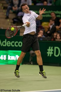 Philipp Kohlschreiber gained the first victory for Germany this weekend against Simon