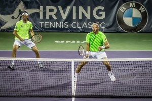 Robert Lindstedt and Sergiy Stakhovsky made it into the doubles final in Irving without dropping a set (photo: Tessa Kolodny)