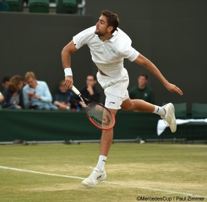 Marin Cilic reached the quarterfinal in Wimbledon 2014