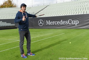 Tommy Haas has already had a look at the new grass courts in Stuttgart