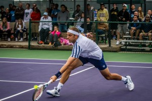 Gilles Muller has to come back from a set down to reach the final in Irving (photo: Tessa Kolodny)
