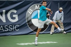 Tim Smyczek has reached his second quarterfinal of the season (photo: Tessa Kolodny)