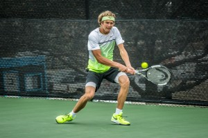 Alexander Zverev advanced to second round in Irving (photo: Tessa Kolodny)