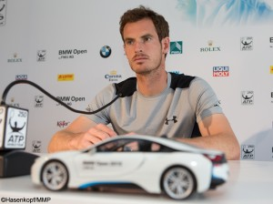 BMW Open's top-seed Andy Murray spoke to the media on Sunday morning (photo: Hasenkopf/MMP)